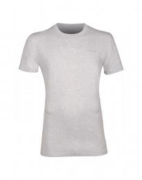 T-shirt i bomull herr ljus gråmelange