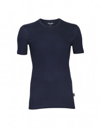 Herr-T-shirt i bomull navy