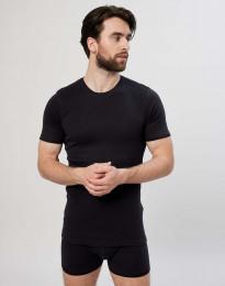 Herr-T-shirt i bomull svart