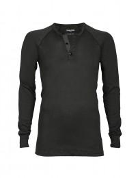 Långärmad herr-T-shirt i ekologisk bomull/elastan grön