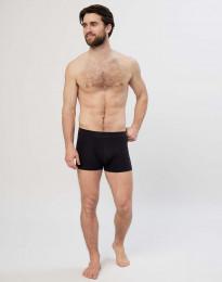 Bomullstights med strukturstickade ben svart