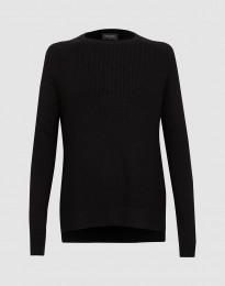 Stickad tröja för kvinnor svart