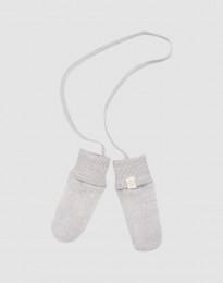 Vantar för baby i merinoullsfleece ljusgrå