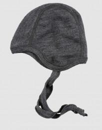 Babymössa - ekologisk merinoull gråmelange