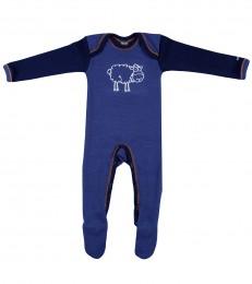 Babysparkdräkt i merino mörkblå