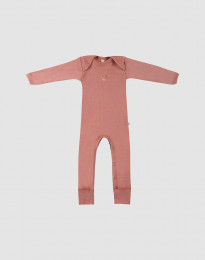 Sparkdräkt i merinoull rosa