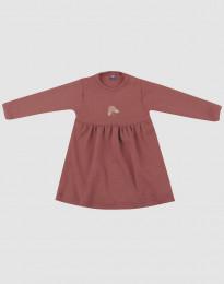 Merinoullsklänning till baby rouge