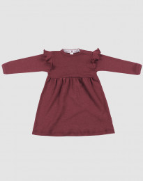 Ullklänning för baby - ekologisk merinoull julröd