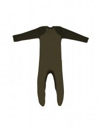 Babysparkdräkt i merino grön