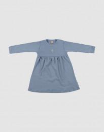 Merinoullsklänning för baby blå