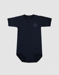 Kortärmad babybody i ekologisk bomull navy