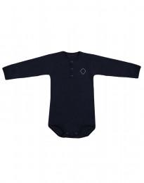 Långärmad babybody i ekologisk bomull navy