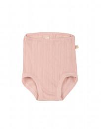 Babytrosor i ekologisk bomull rosa