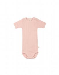 Kortärmad babybody i ekologisk bomull rosa