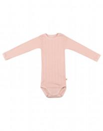 Långärmad babybody i ekologisk bomull rosa