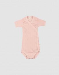 Omlottbody i ekologisk bomull för baby rosa