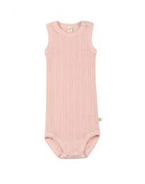 Ärmlös babybody i ekologisk bomull rosa