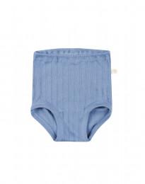 Babytrosor i ekologisk bomull blå