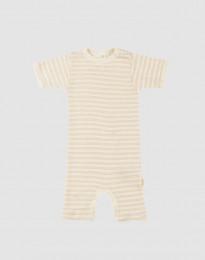 Sommardräkt för baby i ekologisk ull-siden beige/natur