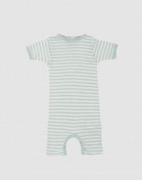 Sommardräkt för baby i ekologisk ull-siden pastellgrön/natur