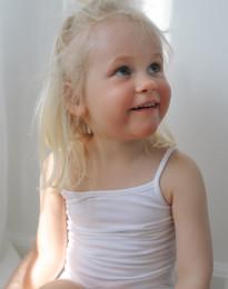 Barntopp i bomull vit
