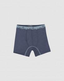Boxershorts för barn - exklusiv ekologisk merinoull - blågrå