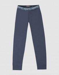 Leggings för barn - exklusiv ekologisk merinoull blågrå