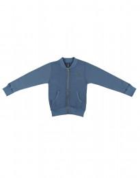 Blixtlåströja i ullfrotté för barn duvblå