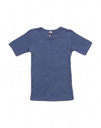 T-shirt för barn i ull-siden jeansblå