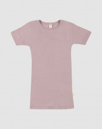 Barn-t-shirt av ull-siden pastellrosa