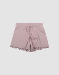 Shorts i ekologisk ull-siden pastellrosa