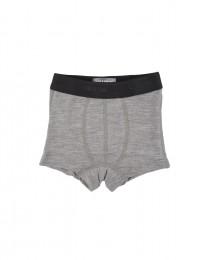 Underkläder/kalsonger i merinoull för barn gråmelange