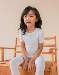 Barn-T-shirt i merinoull natur
