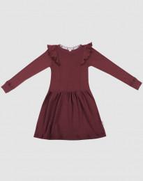 Ullklänning för barn - ekologisk merinoull julröd