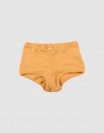 Hipstertrosa för flickor i bred ullribb gul