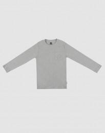 Pyjamaströja för barn gråmelerad