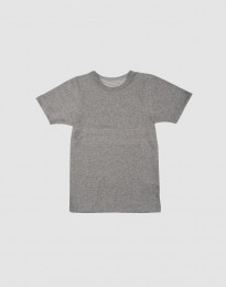 T-shirt barn i ekologisk bomull gråmelange