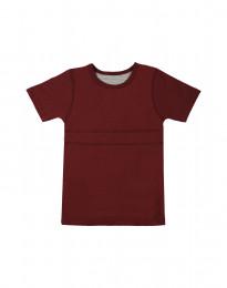 T-shirt barn i ekologisk bomull vinröd