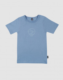 T-shirt för barn med tryck bomull blå