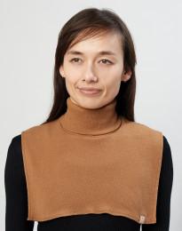 Polokrage för kvinnor i ekologisk merinoull karamell