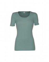 T-shirt dam i merinoull ljusgrön
