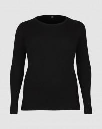 Store DILLING långärmad damtröja i ull svart
