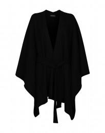 Poncho i filtad ull svart
