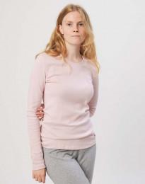 Pyjamaströja för damer i bomull rosa