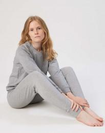 Sweatshirt för damer i bomull gråmelerad