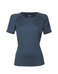 Dam-t-shirt i exklusiv merinoull mörkblå
