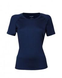 Dam-t-shirt i merinoull mörkblå