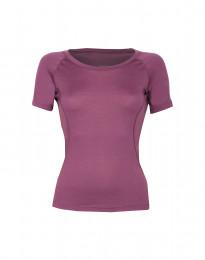 Dam-t-shirt i exklusiv merinoull dämpad lila
