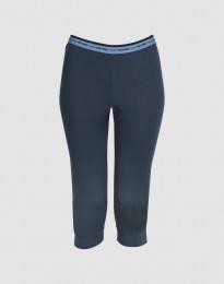 ¾ damleggings - exklusiv merinoull mörkblå