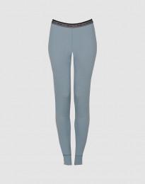 Damleggings - exklusiv merinoull mineralblå